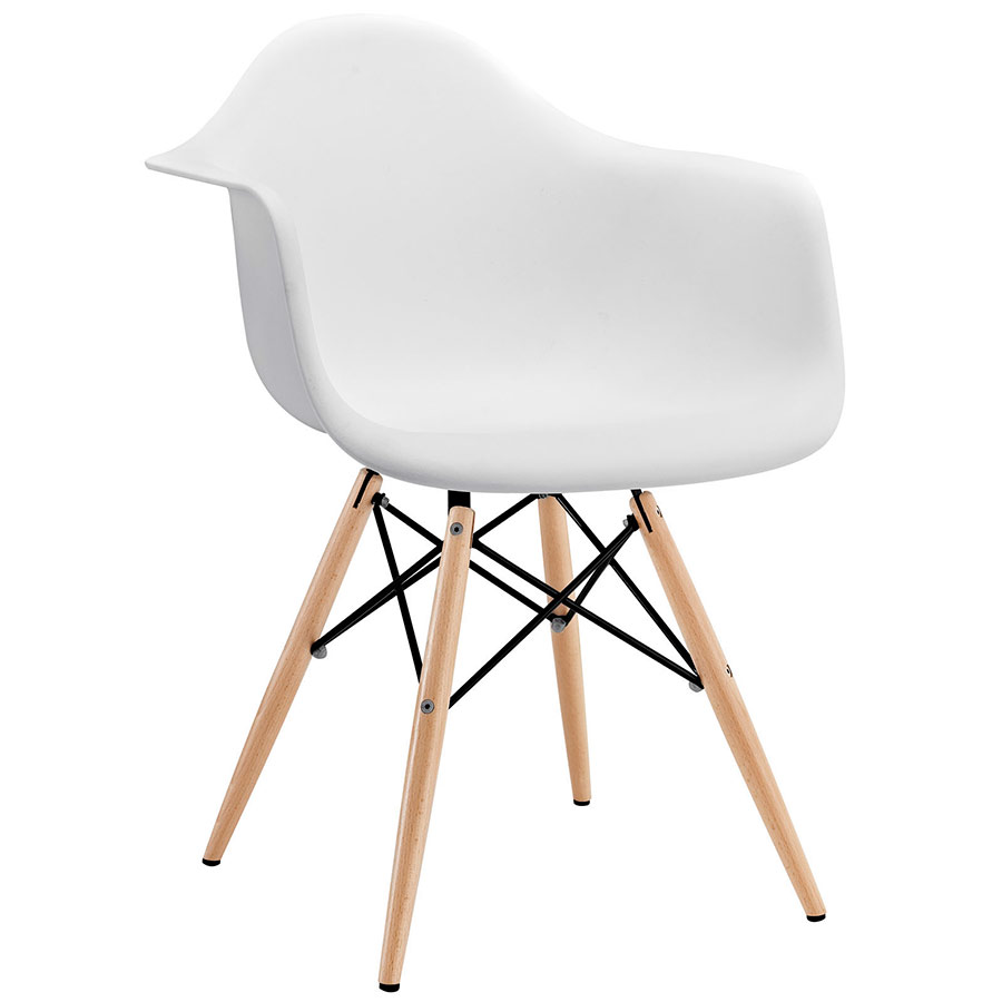 pretty Truss Arm Chair with white seat and wooden legs by eurway furniture for home furniture ideas