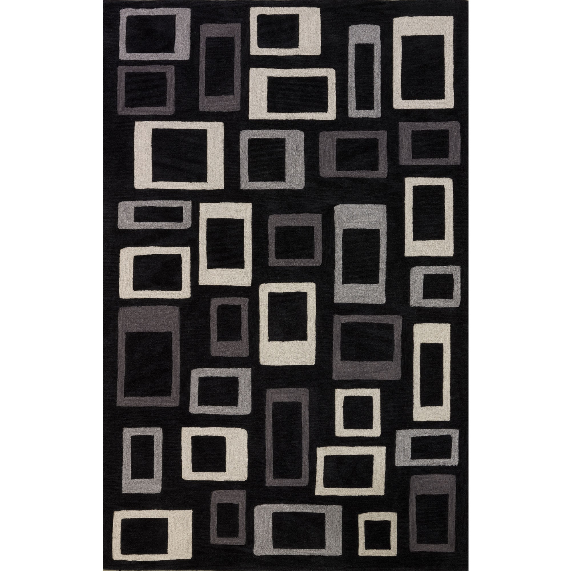 rectangle Black and Gray Rugs Area with checked motif by dalyn rugs for floor decor ideas