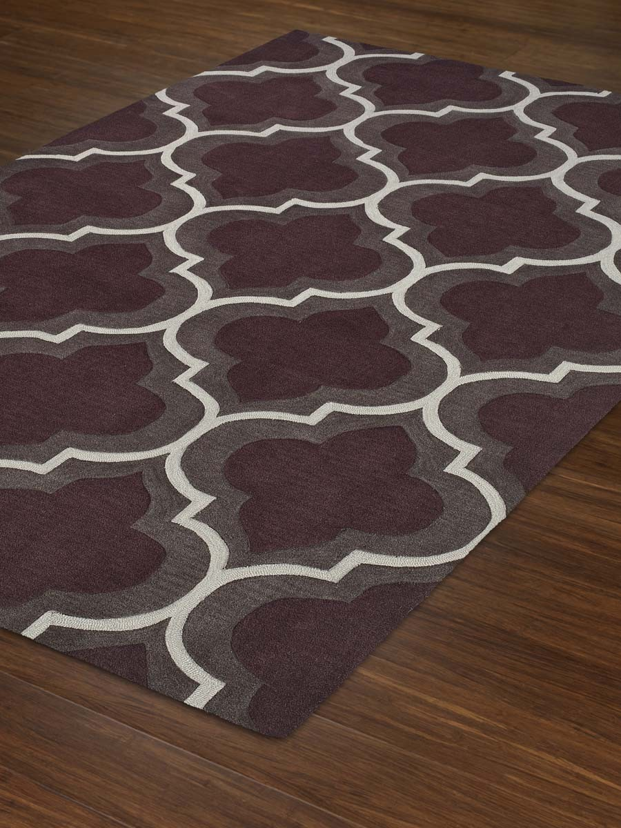 rectangle Dalyn Rugs Infinity IF3 Modern Plum Rug in purplr for floor decor ideas