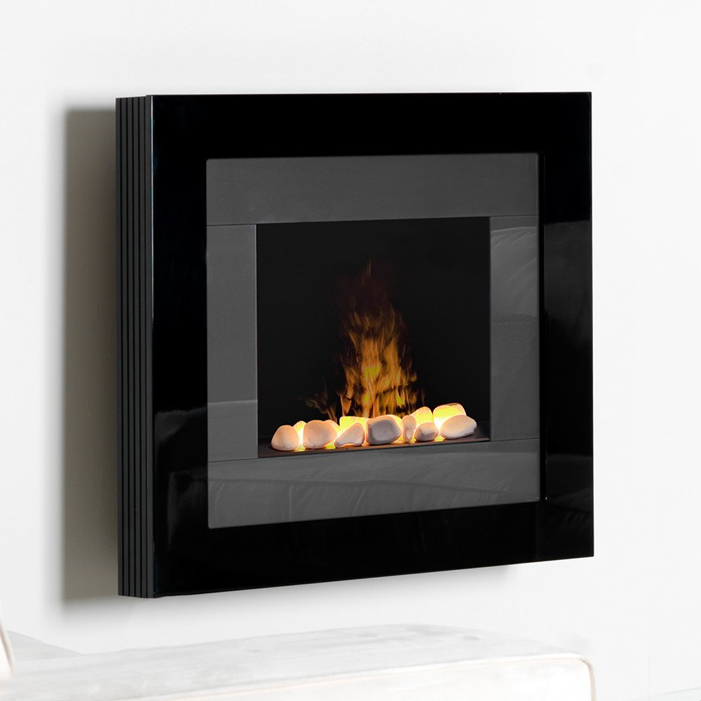 Redway OptiMyst Wall Mount dimplex electric fireplaces RDY20R in black for heatwarming ideas