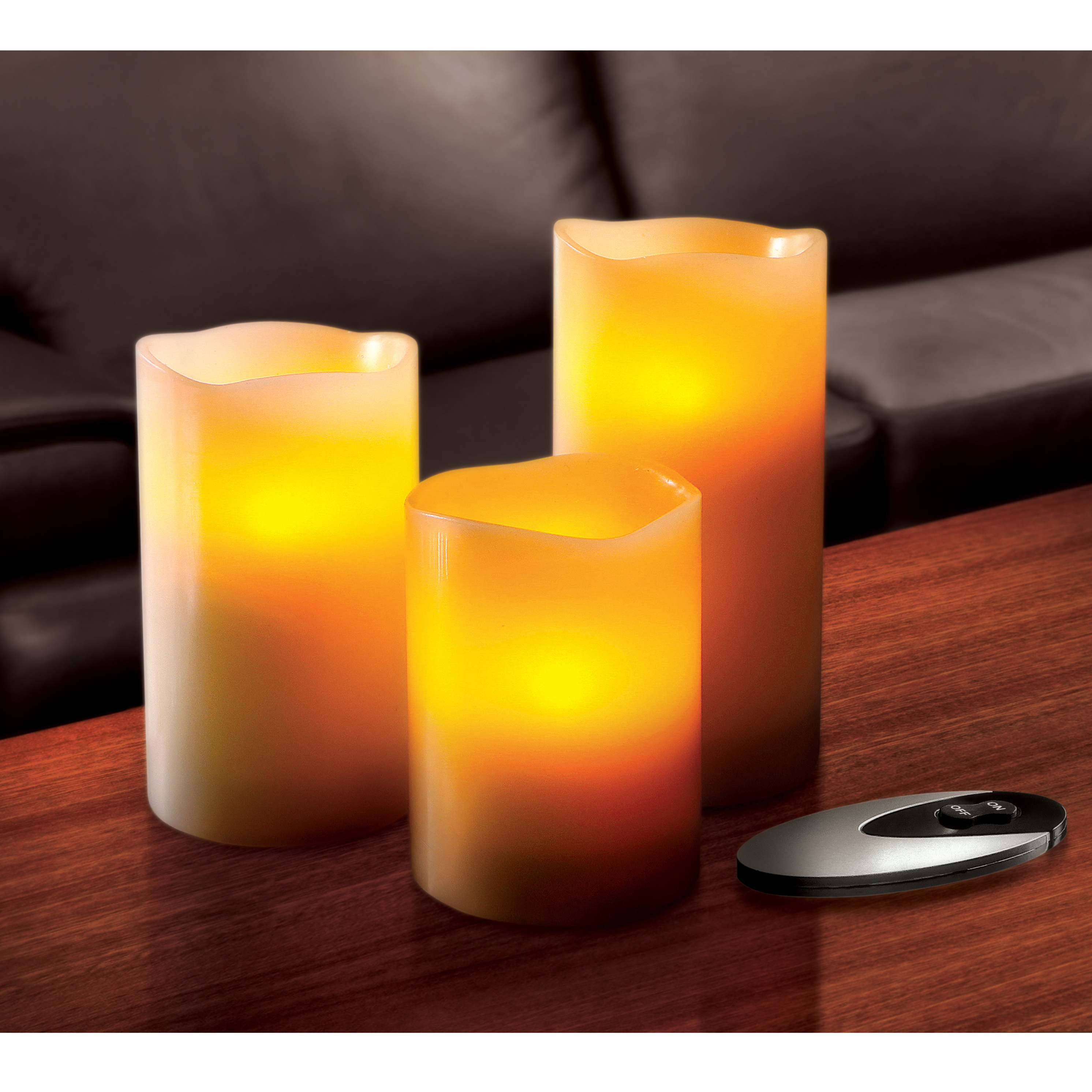 Sarah Peyton 3 piece led flameless candles with timer for home decoration ideas