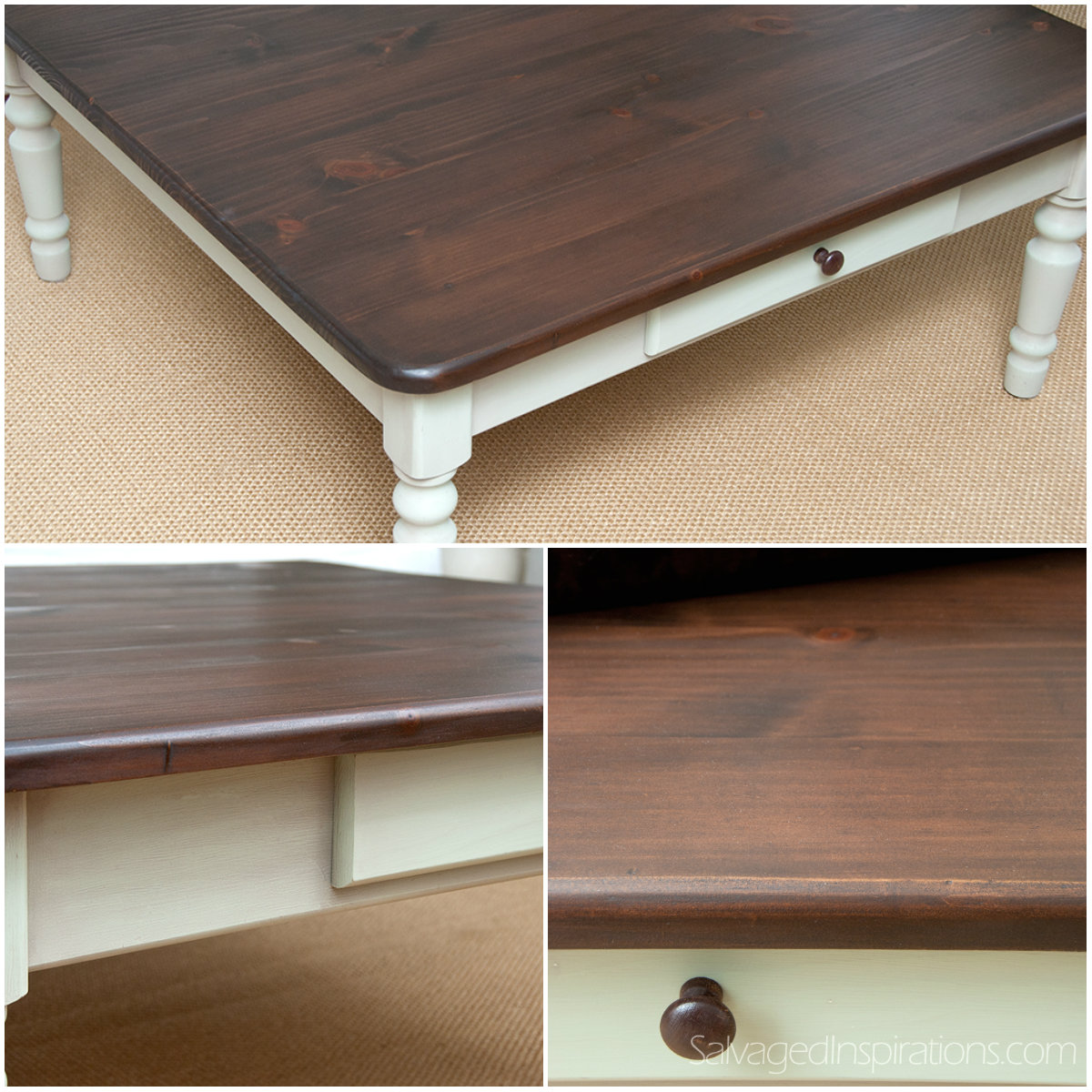 Staining Pine table with general finishes java gel stain in espresso and white stand for home furniture ideas