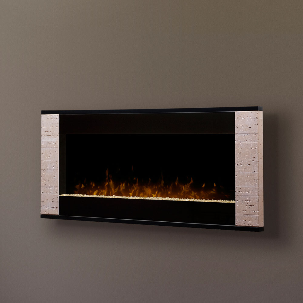 Strata Linear Wall Mount Dimplex Electric Fireplaces DWF1205TR On Gray Wall For Family Room Ideas