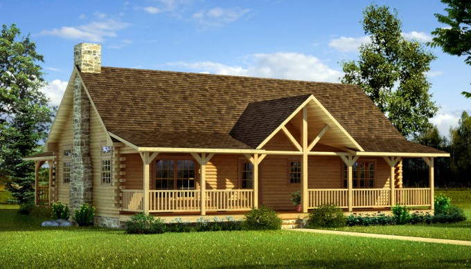 Stunning Exterior Design Of Southland Log Homes With Glass Window And Door Plus Railing Ideas