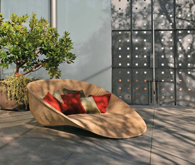 Stunning Wicker Rattan Sleeper Chair In Wheat By Janus Et Cie Outdoor Furniture For Outdoor Furniture Ideas