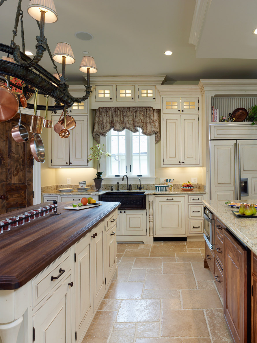 Stunning Wooden Kitchen Bertch Cabinets In White With Granite Countertop And Dark Sink Plus Faucet Before The Window With Canopy For Kitchen Decor Ideas