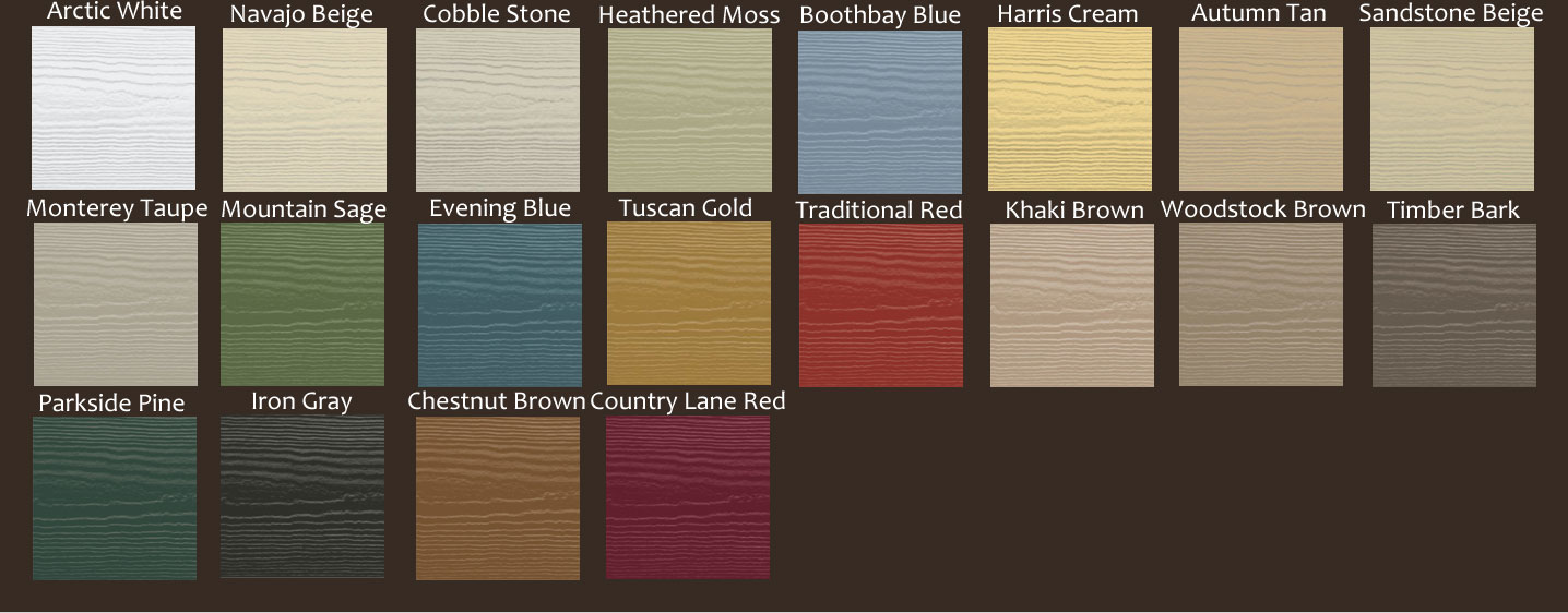 the color options for hardie plank siding
