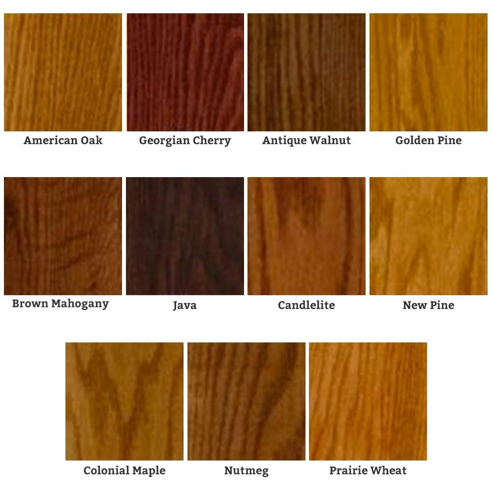 the color options for minwax gel stain