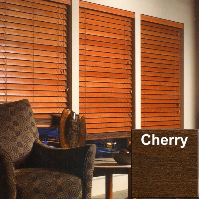 White Wall With Brown Faux Wood Blinds Plus Dark Brown Sofa And Table For Living Room Decor Ideas