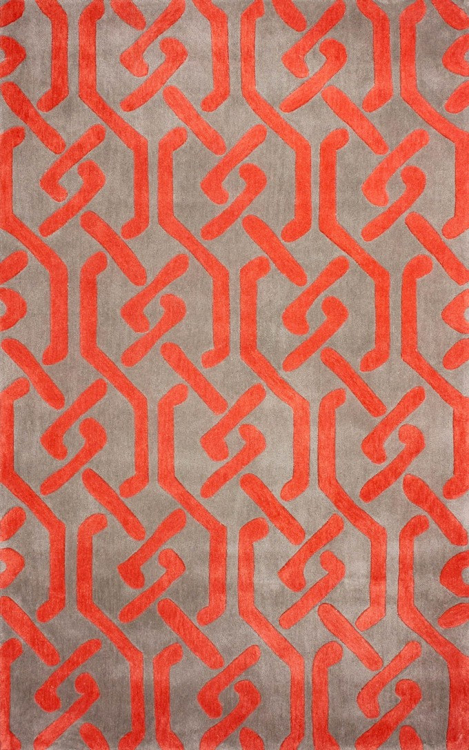 Wondeful Rectangle Dalyn Rugs In Beige With Orange Motif For Floor Decor Ideas