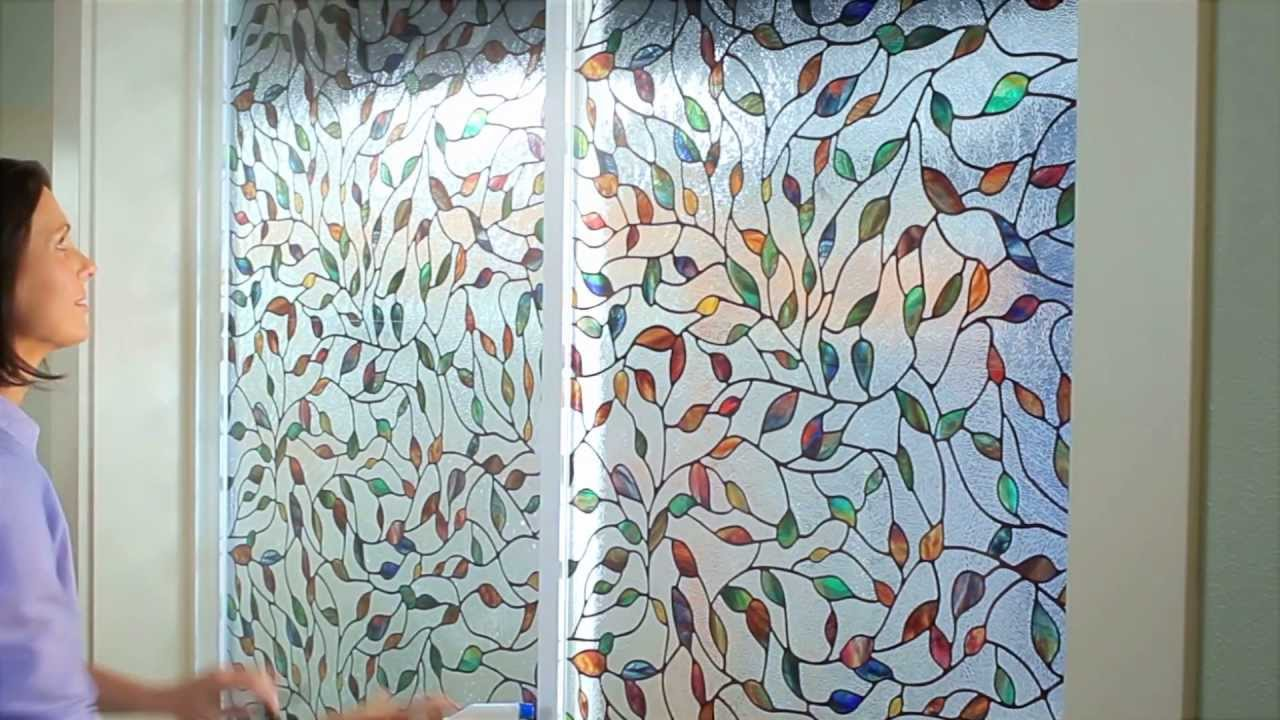 wonderful artscape window film in leaf motif design for home decor ideas