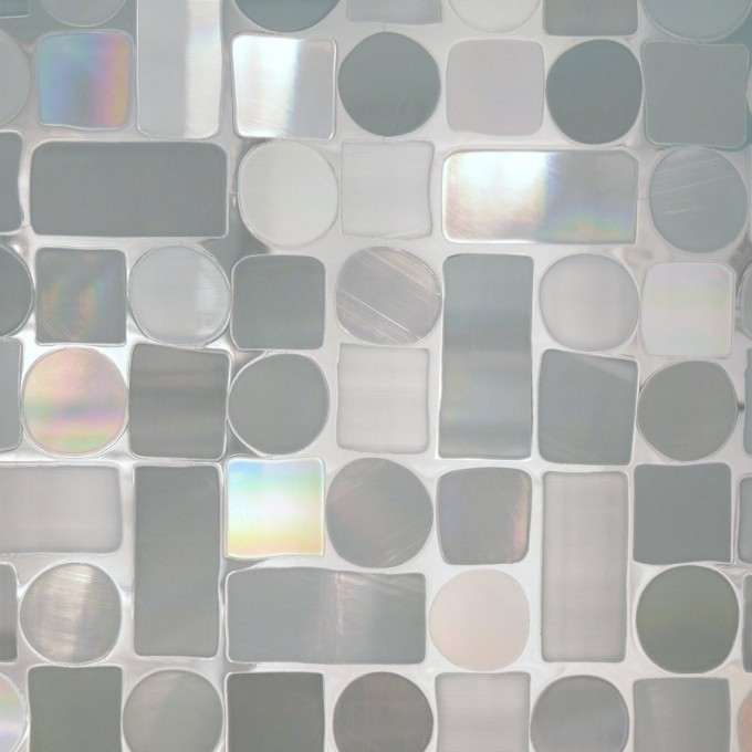 Wonderful Artscape Window Film With Rectangle And Square And Round Motif Design For Window Decor Ideas