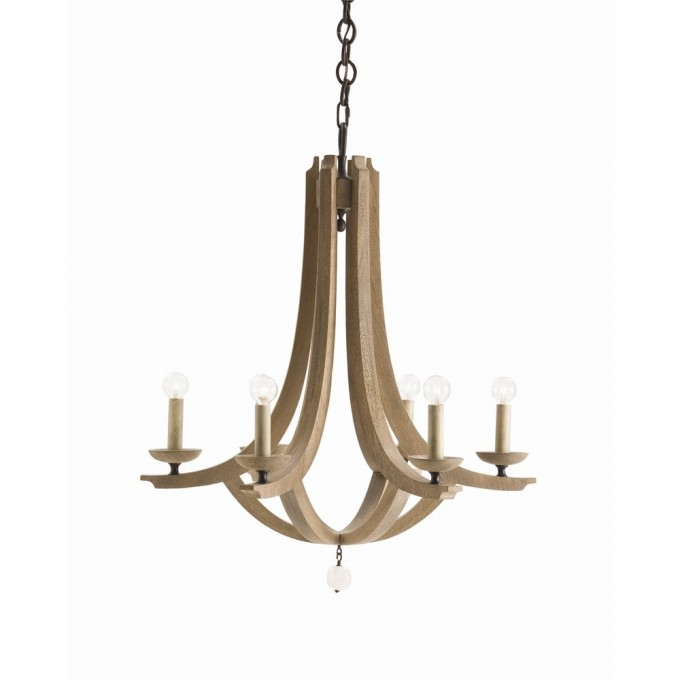 Wonderful Chandelier With Six Lights And Decorative Light Holder In Beige By Arteriors Lighting For Home Lighting Ideas