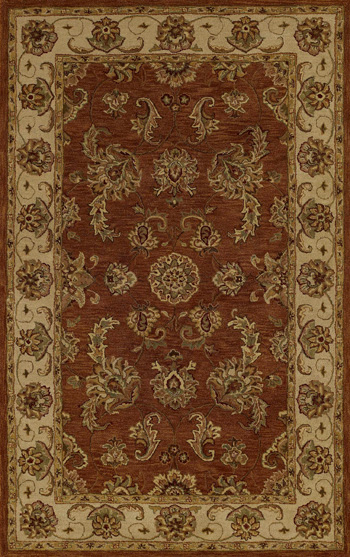 Wonderful Dalyn Rugs In Brown Floral Motif For Floor Decor Ideas