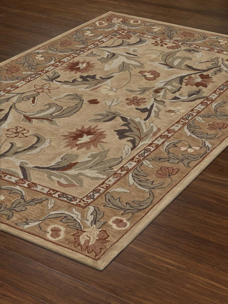 wonderful dalyn rugs in floral motif with beige rim for floor decor ideas