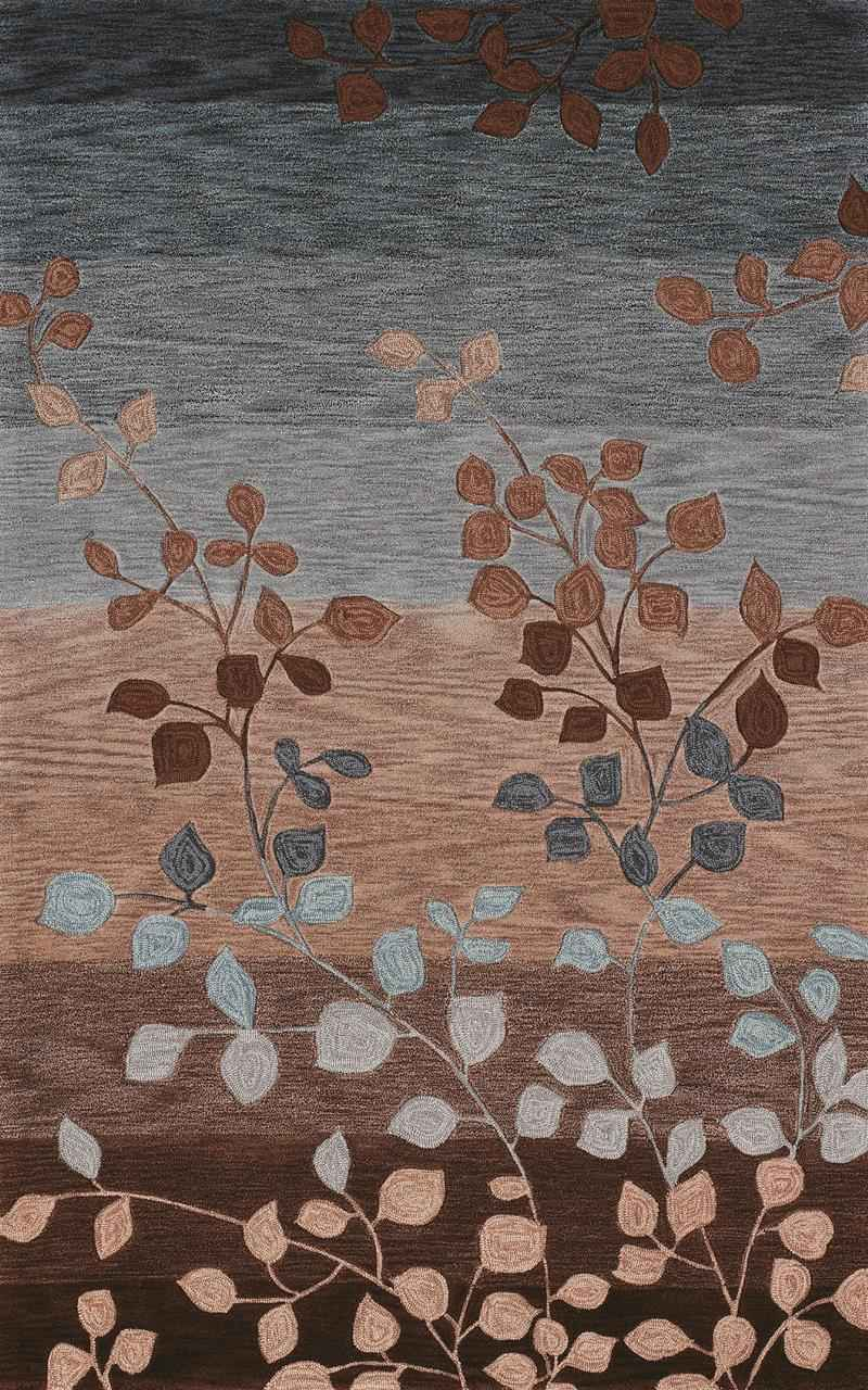 Wonderful Dalyn Rugs In Stripped And Leaves Motif For Floor Decor Ideas