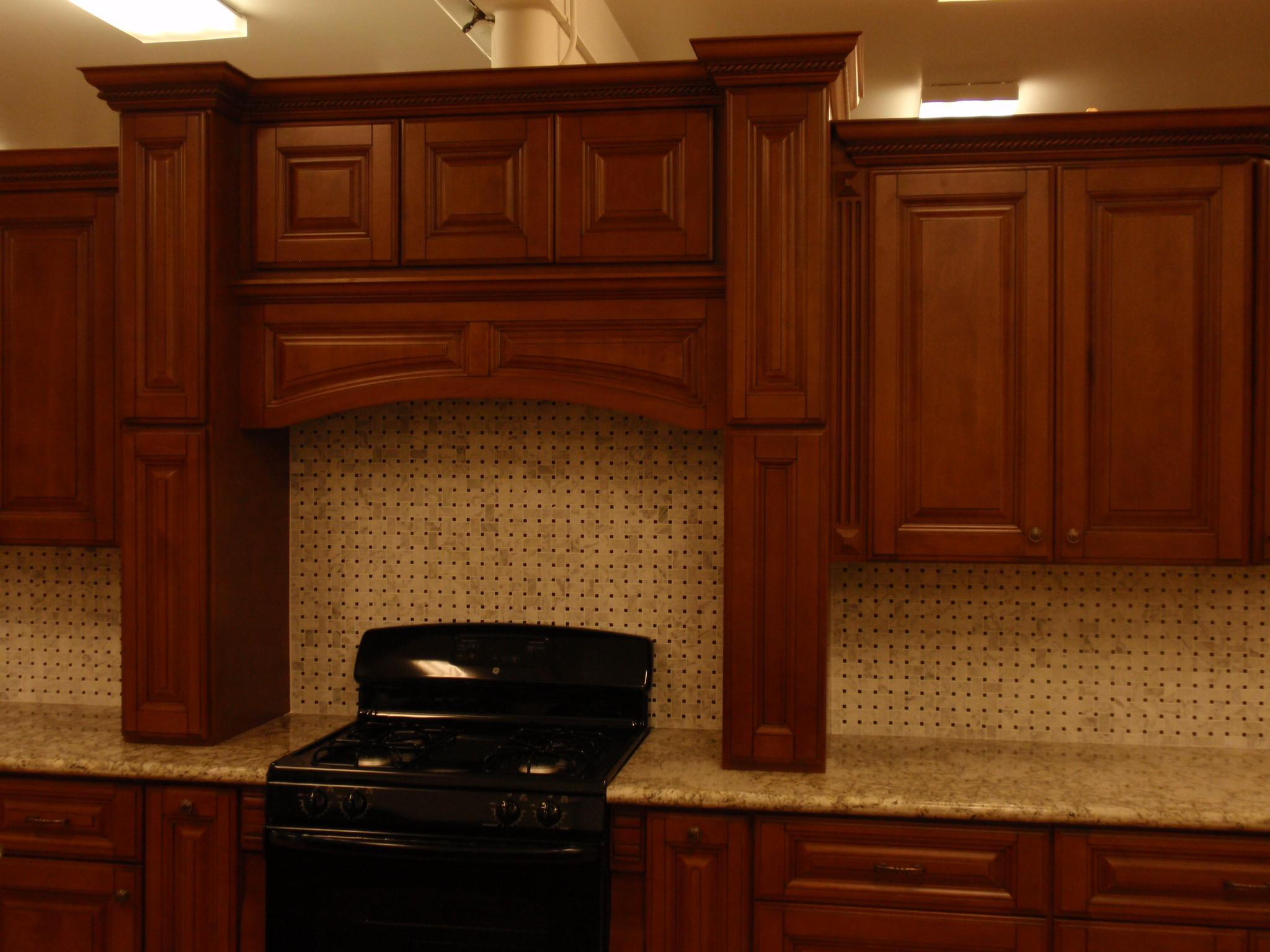 wonderful kitchen american woodmark cabinets in brown with granite countertop and black stove for kitchen furniture ideas