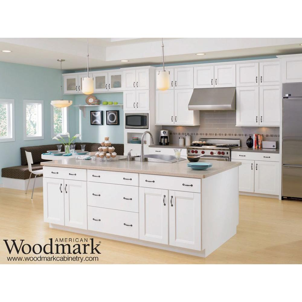 wonderful kitchen american woodmark cabinets in white with black handle and granite countertop plus sink and stove for kitchen decor ideas