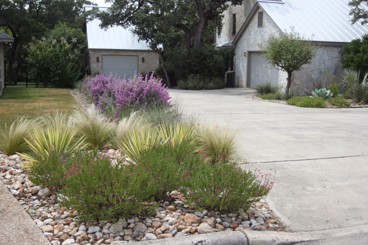wonderful landscaping with pink muhly grass ideas