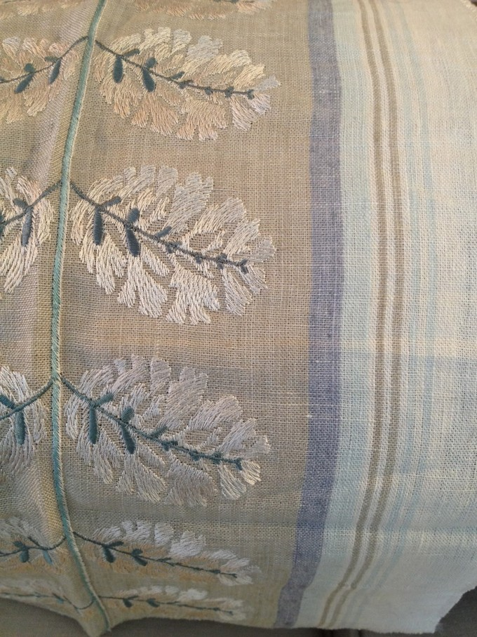 Wonderful Linen With Leaf Motif Design By Cowtan And Tout