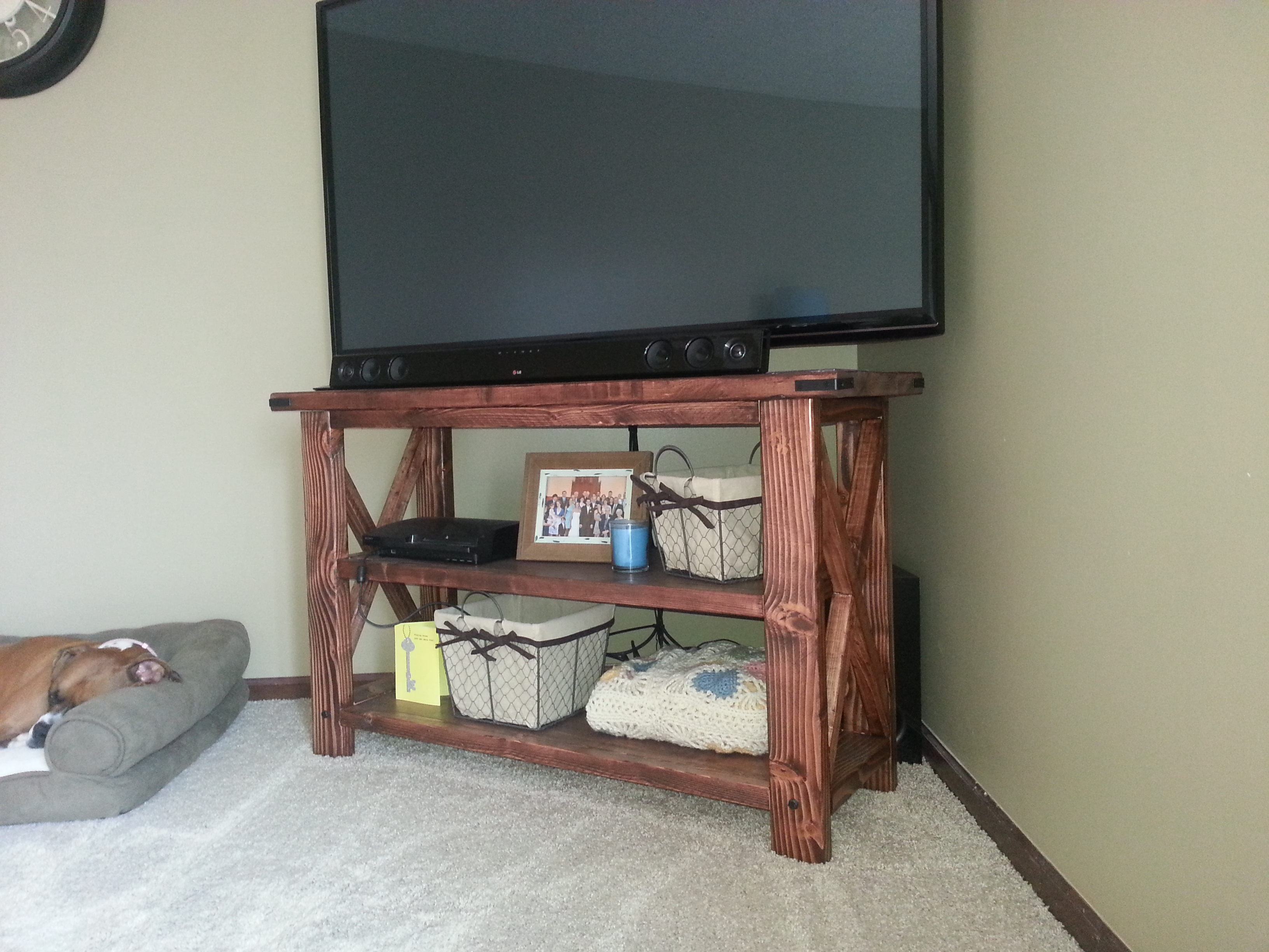 wonderful television stand using minwax gel stain for home furniture ideas