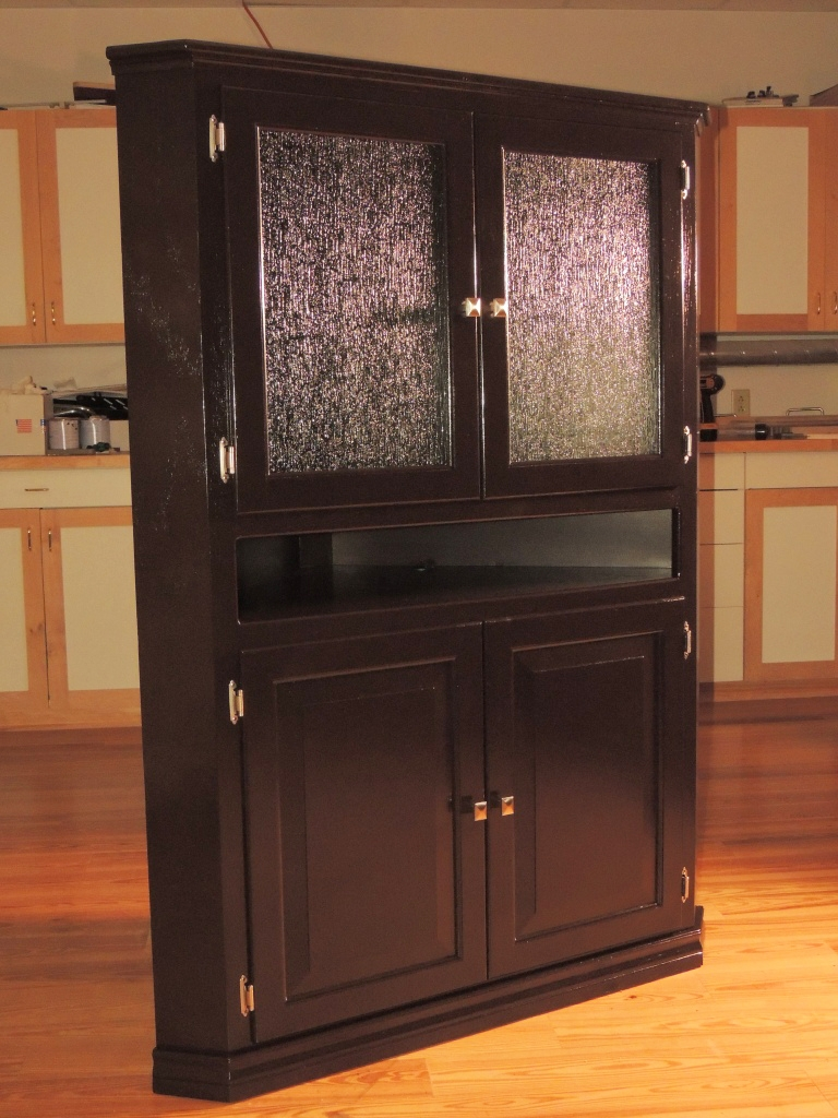 wonderful wooden cabinet using general finishes java gel stain in espresso with silver handle for home furniture ideas