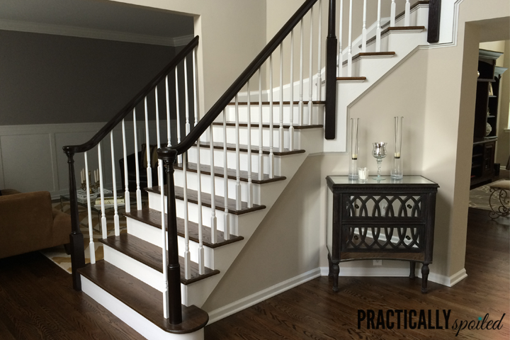 wonderful wooden stair railing using minwax gel stain and wooden stepping for home interior design ideas