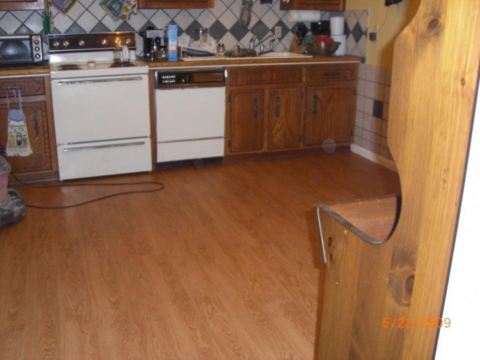 Wooden Floor By Konecto Plus Wooden Kitchen Island And Stove For Kitchen Decor Ideas