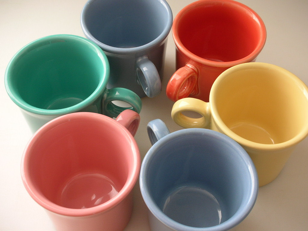Awesome Collections Of Fiestaware For Dinnerware Ideas: 6 Fiesta Mugs Assorted Colors By Fiestaware For Drinkware Ideas