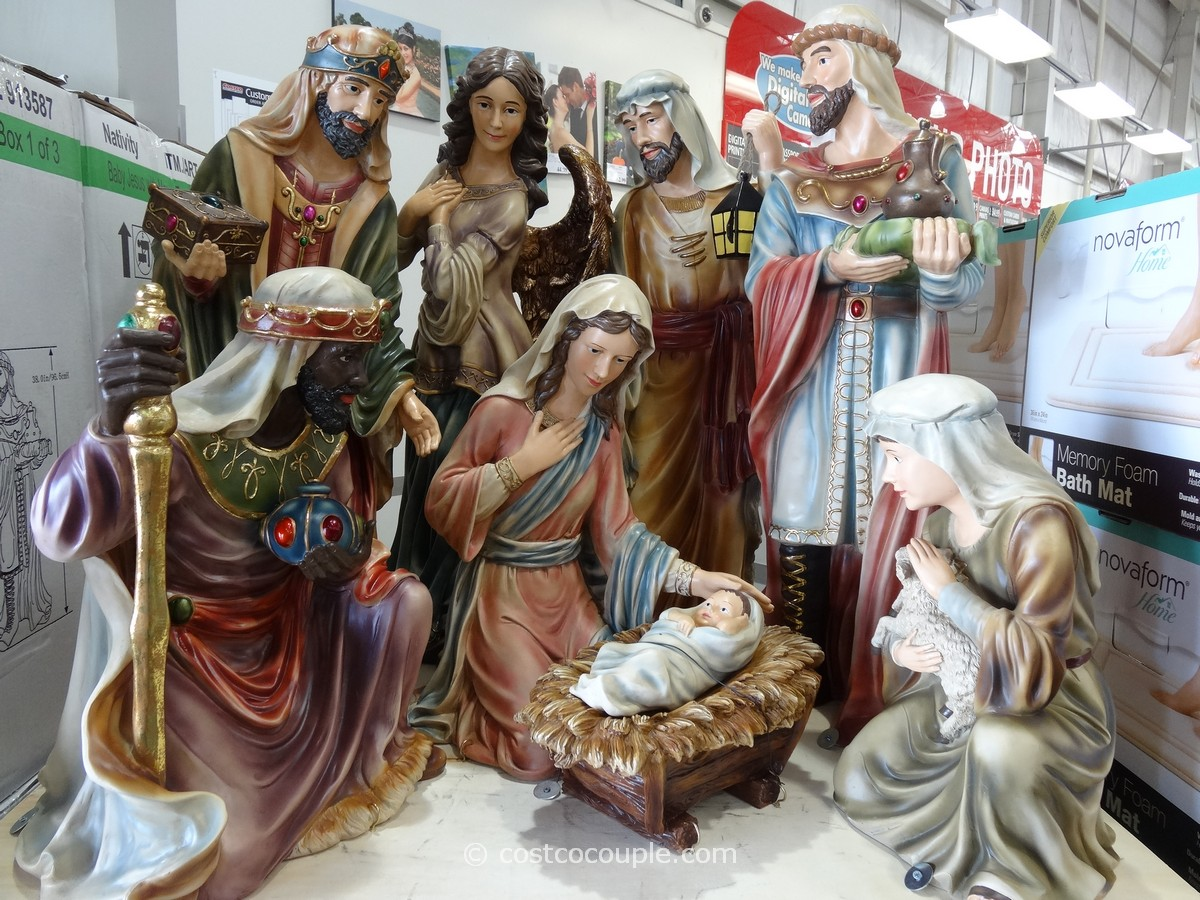 9 Piece Nativity Sets Costco 1 for chic cristhmas decoration ideas
