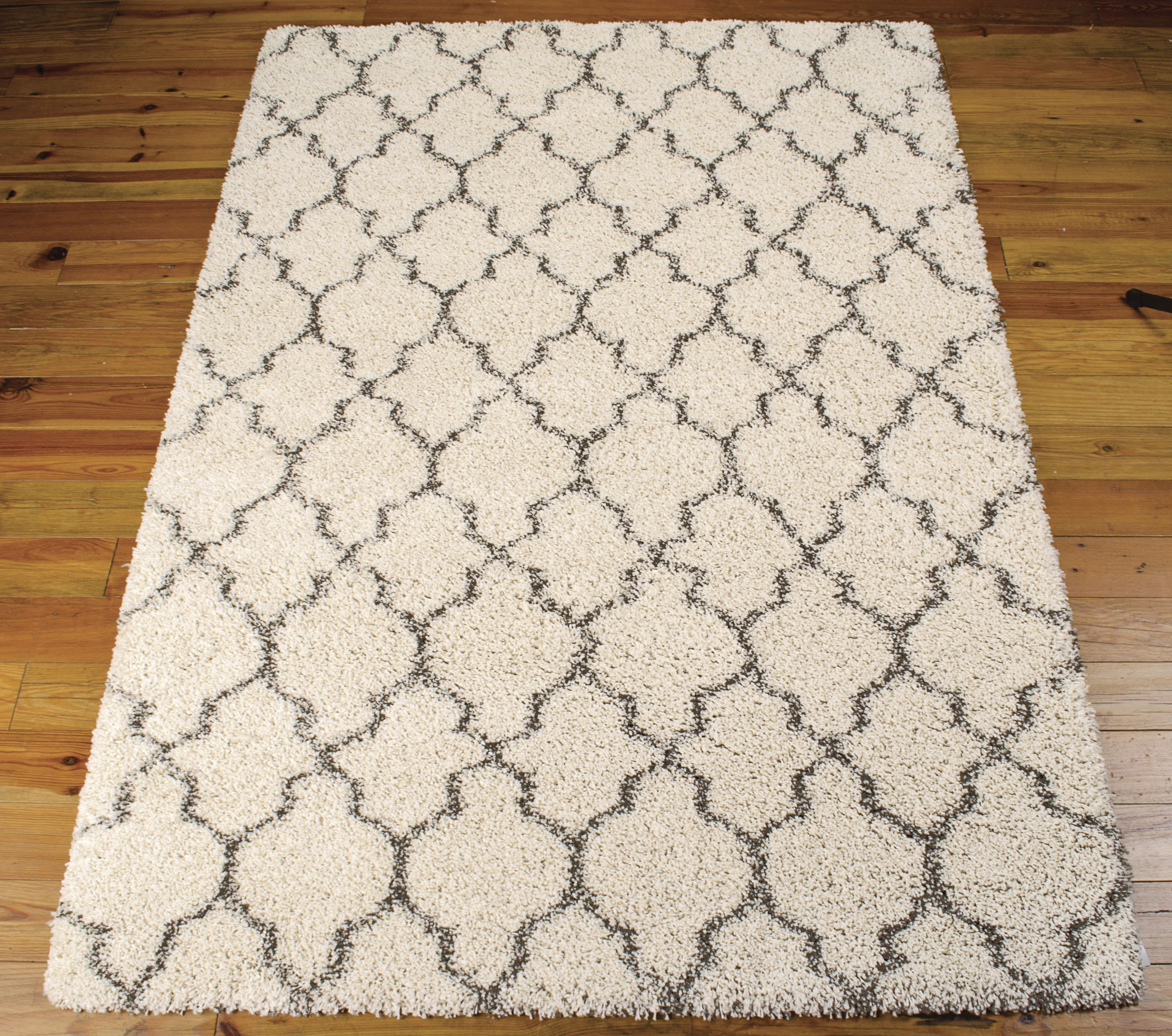 Amore Collection Shag Area Rug in Cream design by nourison rugs for floor decor ideas