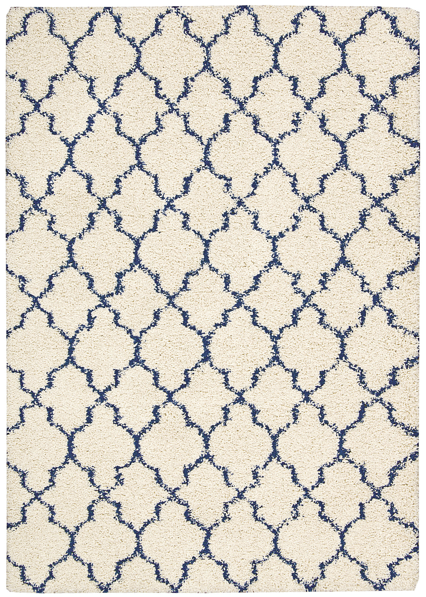 Amore Collection Shag Area Rug in Ivory and Blue design by nourison rugs for floor decor ideas