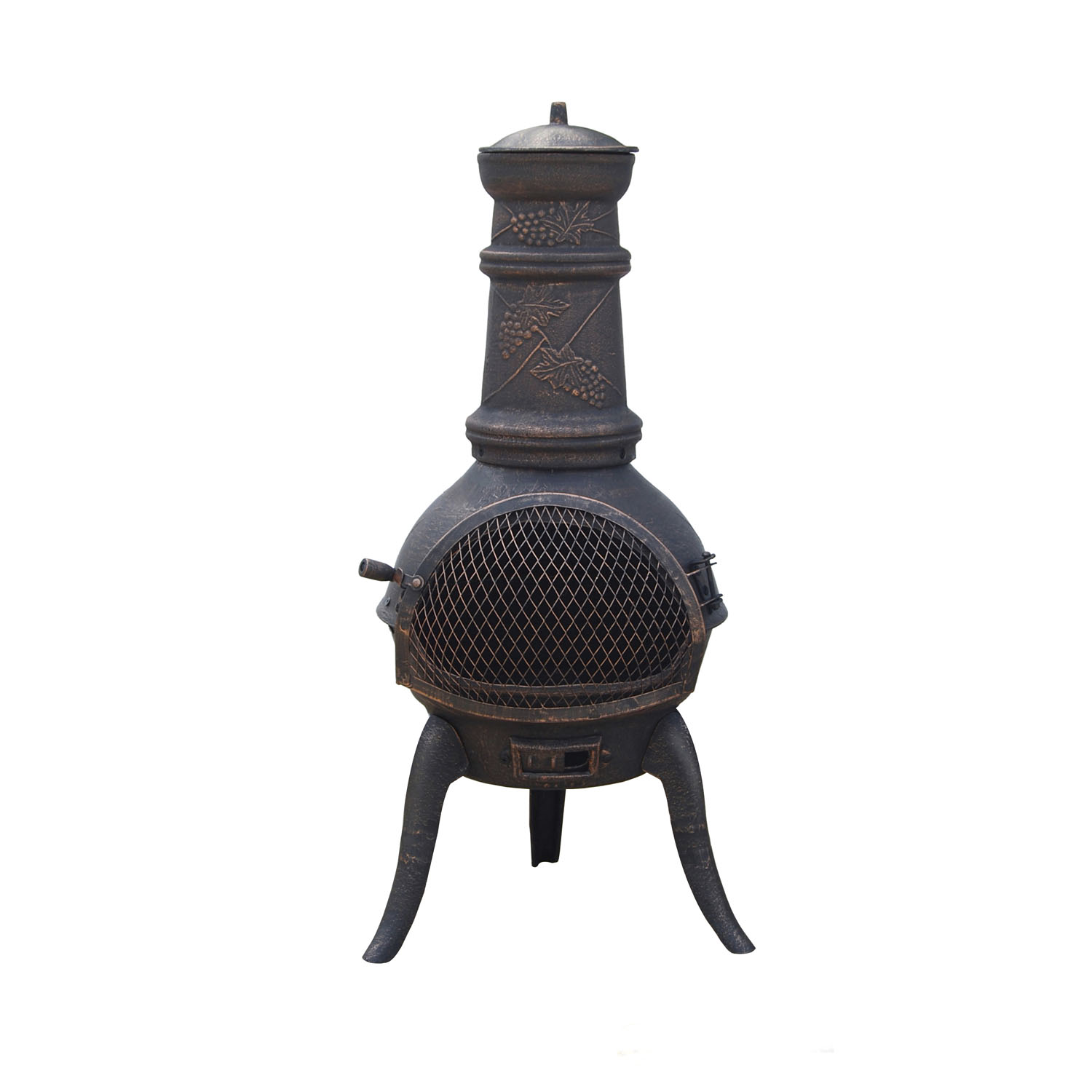 Antique Chiminea Make Smoke Up For Outdoor Furniture Ideas