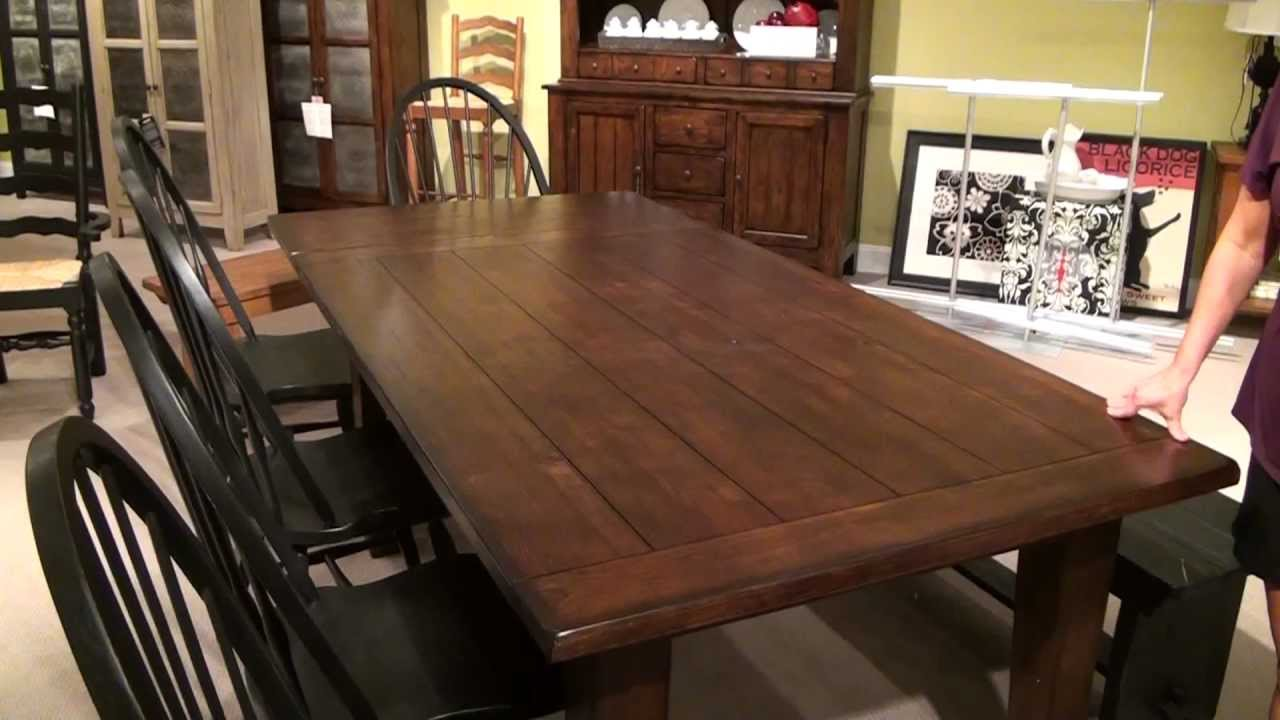 Attic Heirlooms Rustic Oak Extension Leg Dining Table By Broyhill Furniture For Dining Room Furniture Ideas