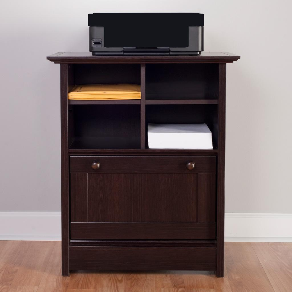 awesome brown fireproof file cabinet on wooden floor which matched with gray wall for home office decor ideas
