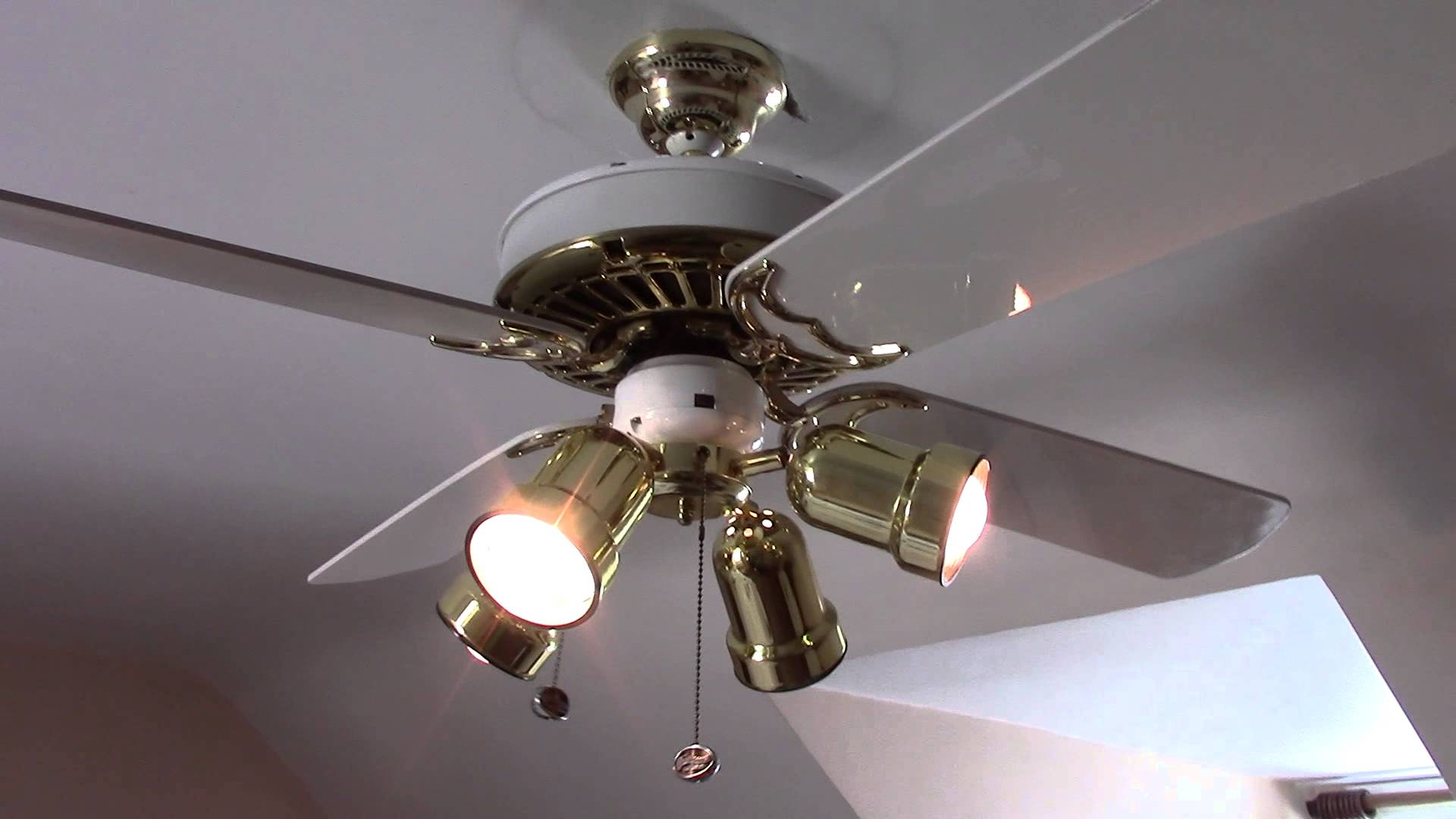 awesome casablanca ceiling fans in five white blade slinger with four lights on white ceiling for home ideas