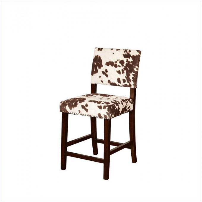 Awesome Corey 24inch Counter Stool In Udder Madness Brown By Cymax Bar Stools For Home Furniture Ideas