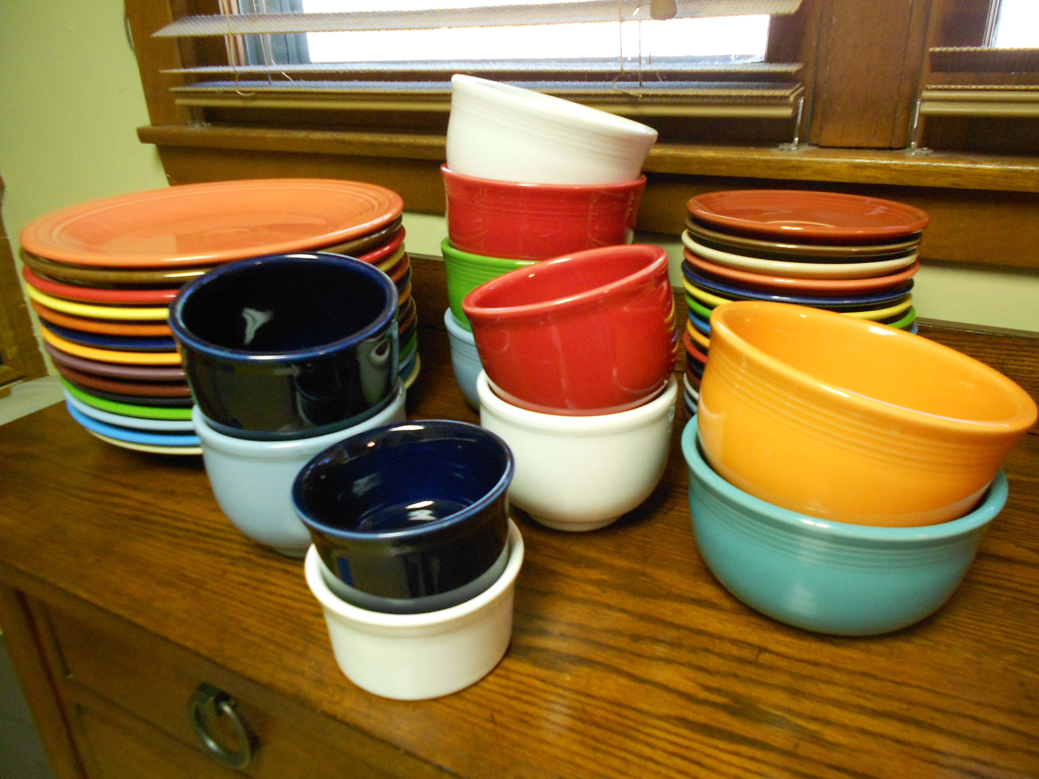 awesome cup mug and saucers plus plate by fiestaware for dinnerware ideas