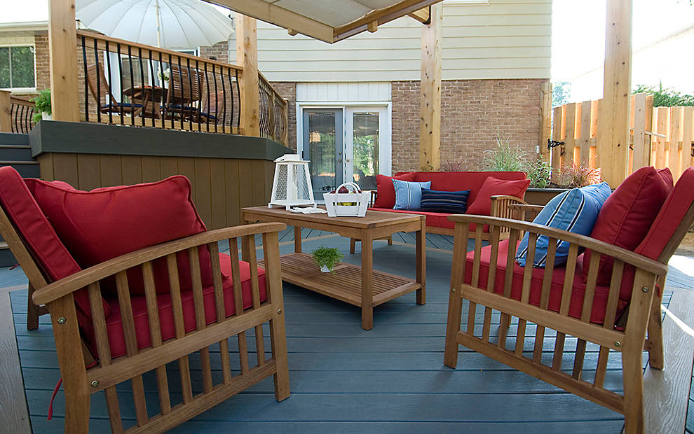 awesome DECKING IN BEACH DUNE AND CLAM SHELL WITH TREX FASCIA IN CLAM SHELL and BEACH DUNE for expensive trex decking cost ideas