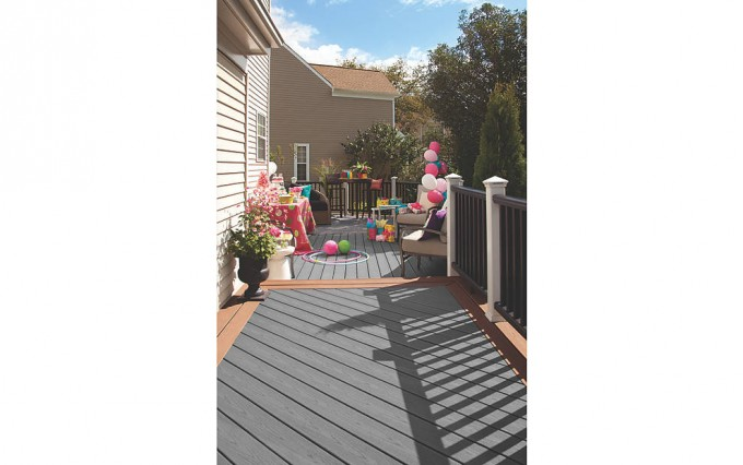 Awesome Decking IN CLAM SHELL AND BEACH DUNE With Cute Sofa For Standard Trex Decking Cost Ideas
