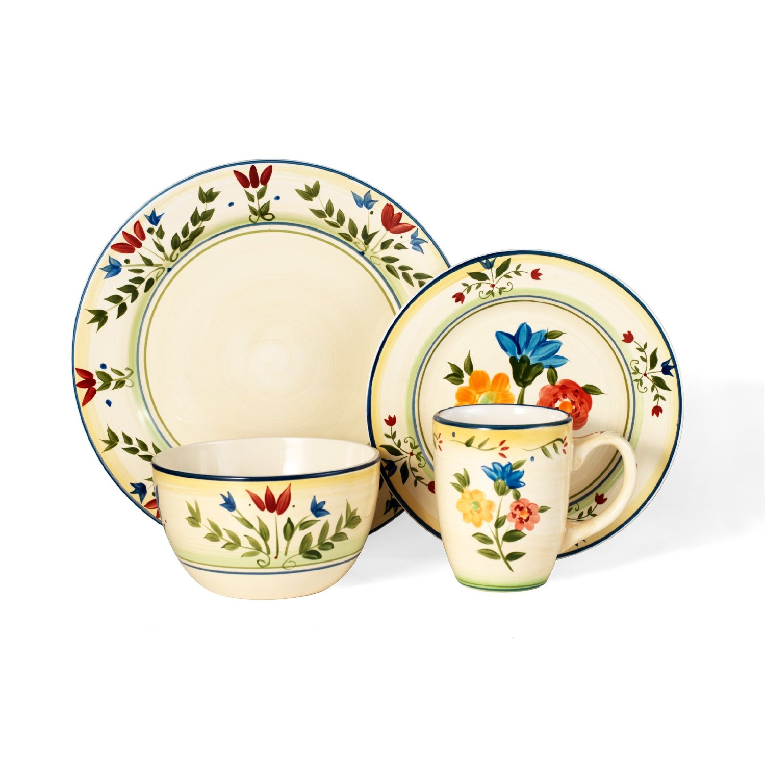 awesome dinnerware set in cream and floral pattern by pfaltzgraff for dinnerware ideas