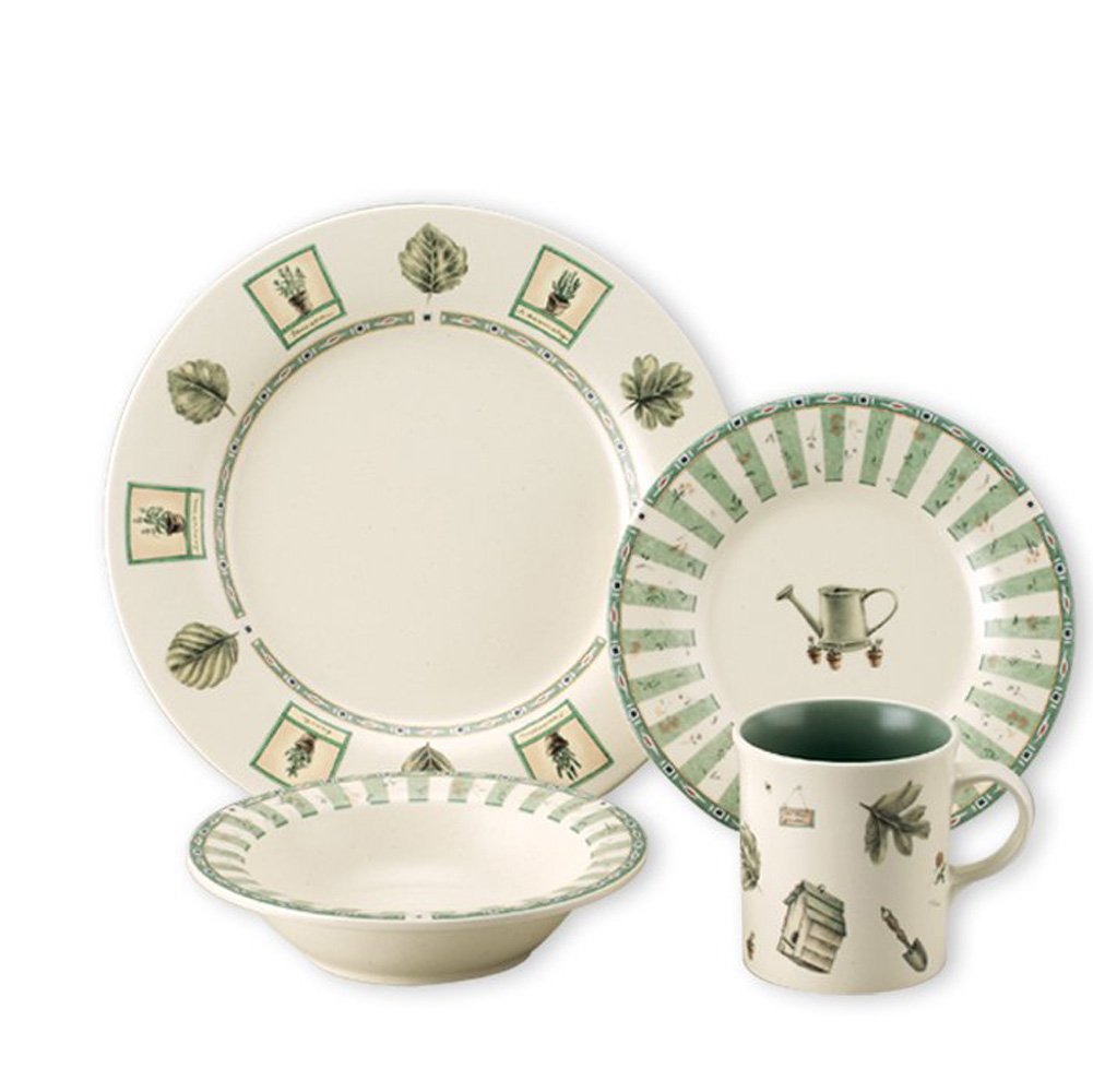 awesome dinnerware set in white and green by pfaltzgraff for interesting dinnerware ideas