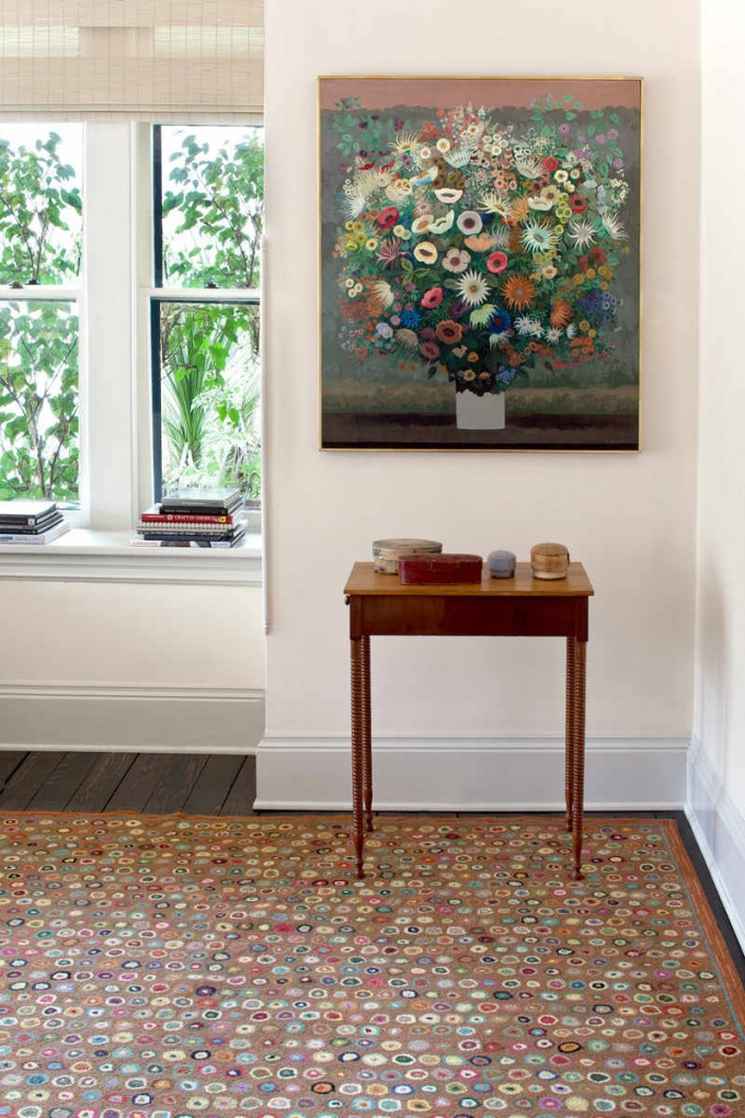 Awesome Dotted Dash And Albert Rugs On Wooden Floor Which Matched With White Wall For Living Room Decor Ideas