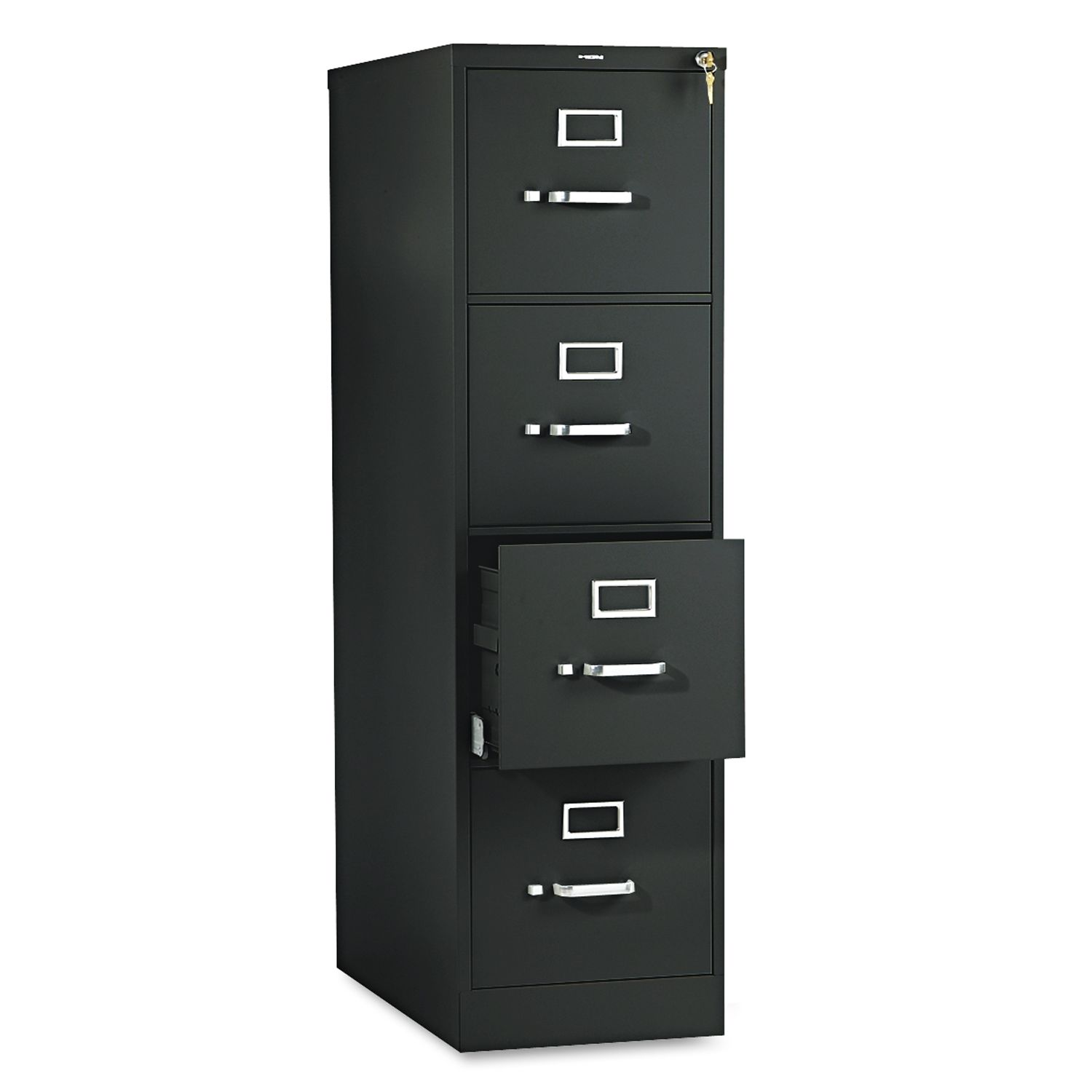 awesome fireproof file cabinet in black and four drawers design with white handle for home office furniture ideas