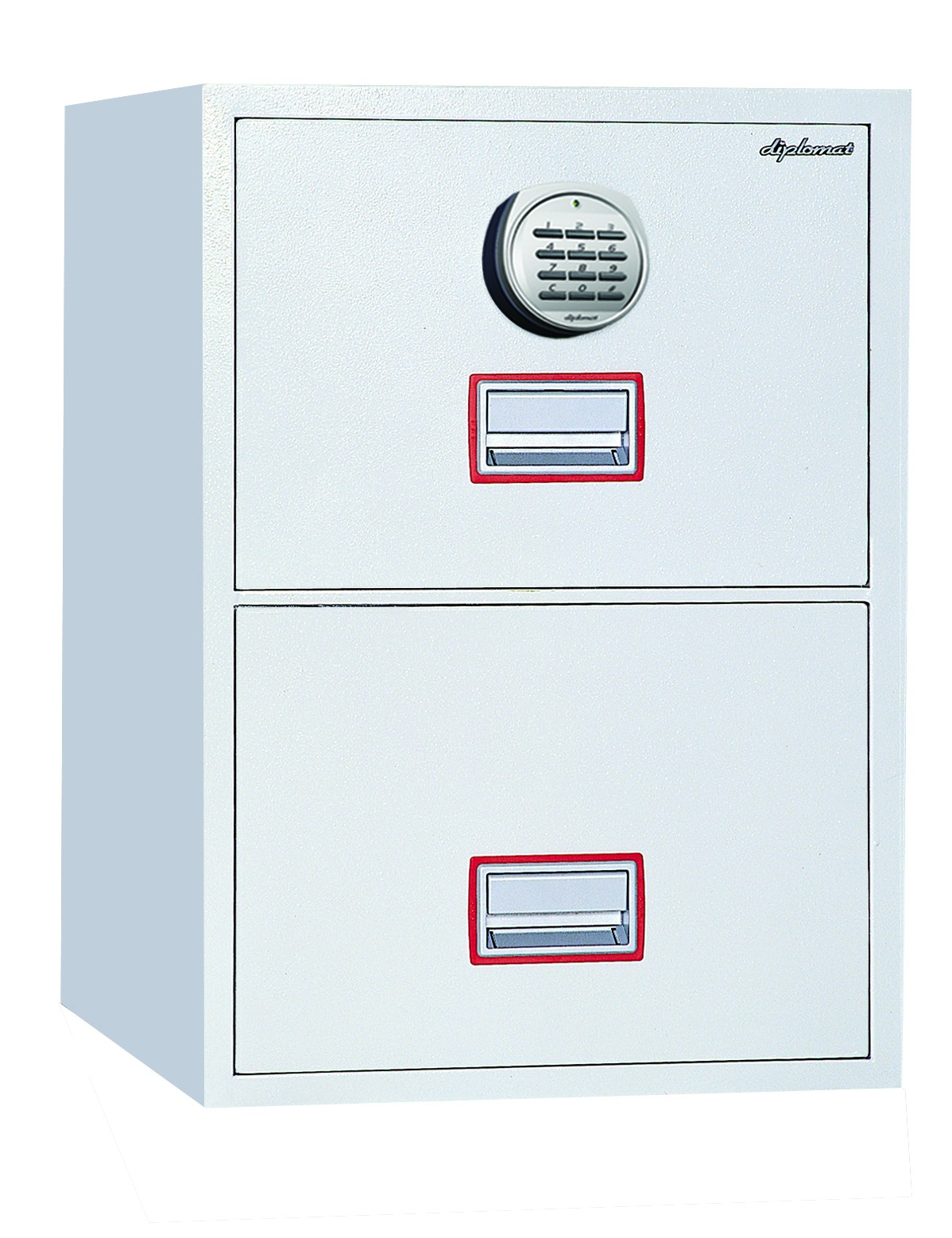 awesome fireproof file cabinet in white with double drawers and combination lock for safety data ideas
