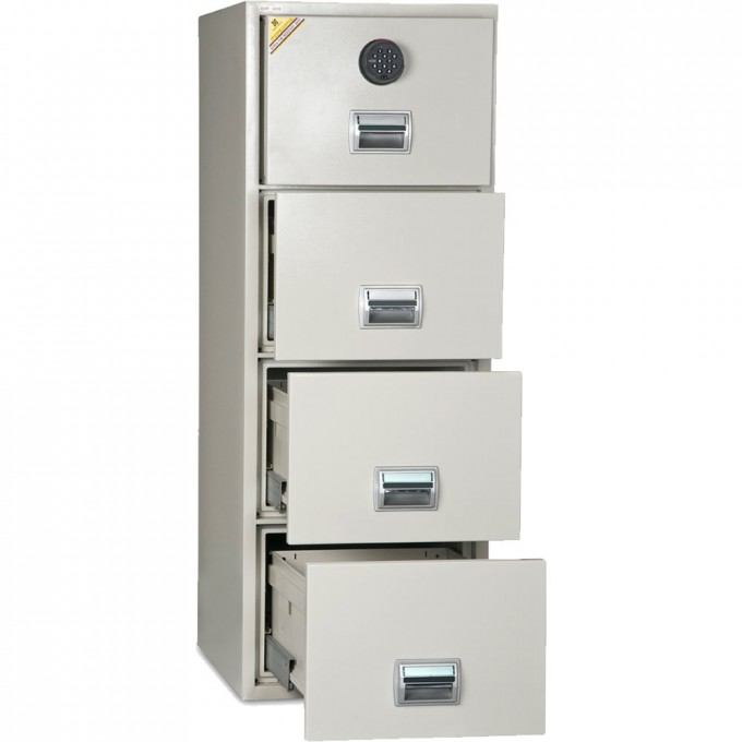 Awesome Fireproof File Cabinet In White With Silver Handle And Four Drawers For Home Office Furniture Ideas