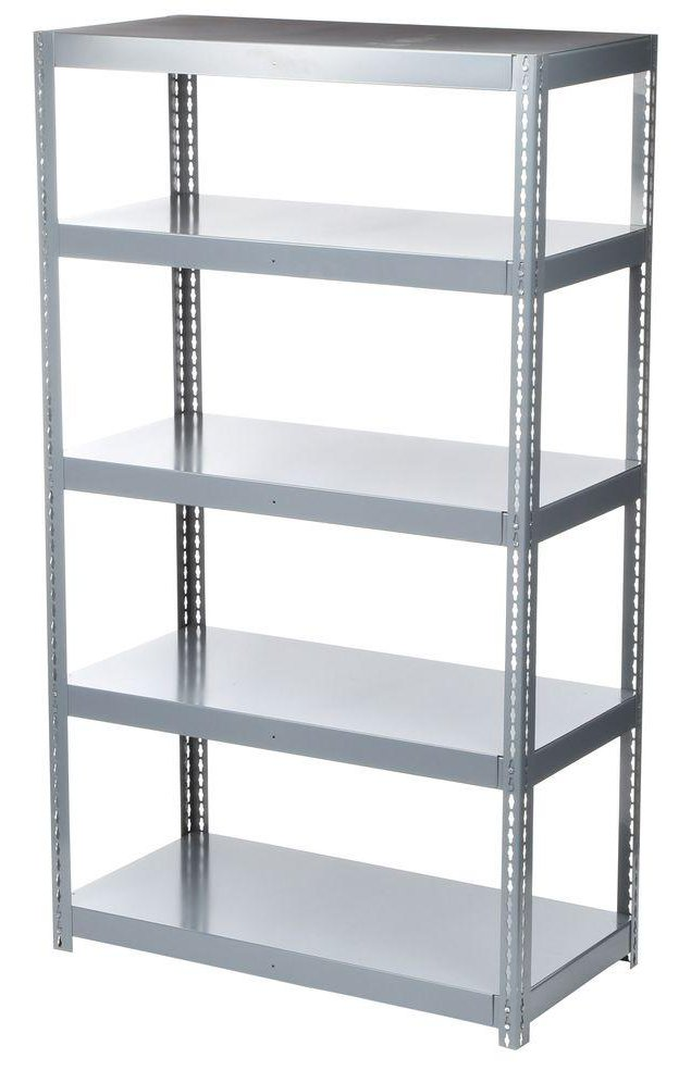 Use Edsal Shelving At Your Garage To Save Your Tools: Awesome Gray Edsal Shelving Made Of Steel For Garage Furniture Ideas