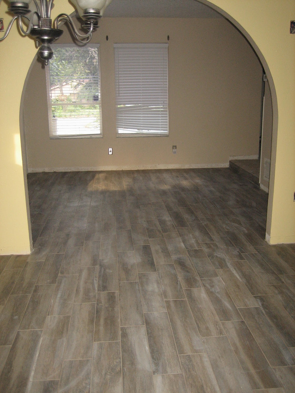 awesome gray Mohawk Flooring matched with yellow wall for home interior design ideas