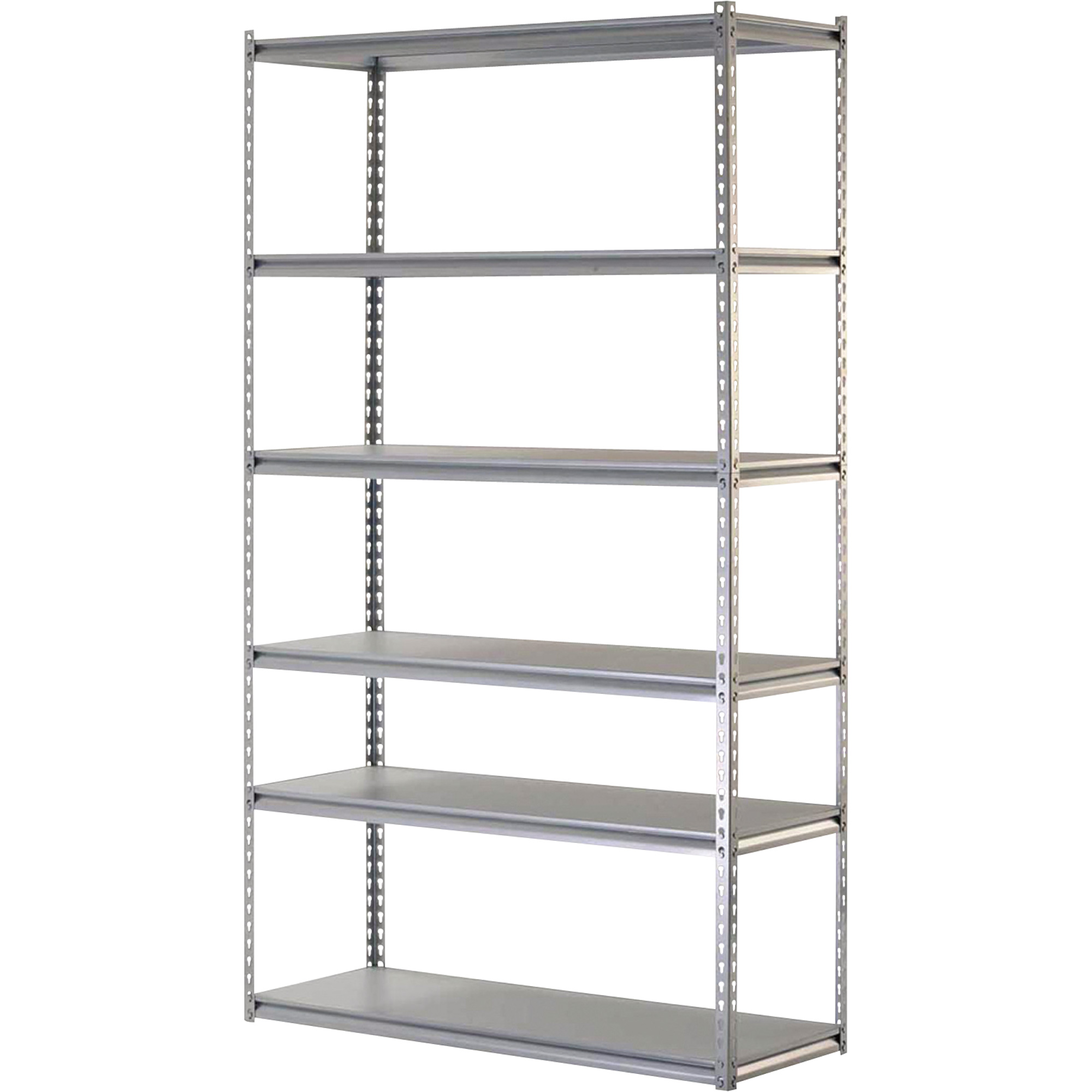 Awesome Gray Steel Edsal Shelving In Six Tier Design For Garage Furniture Ideas