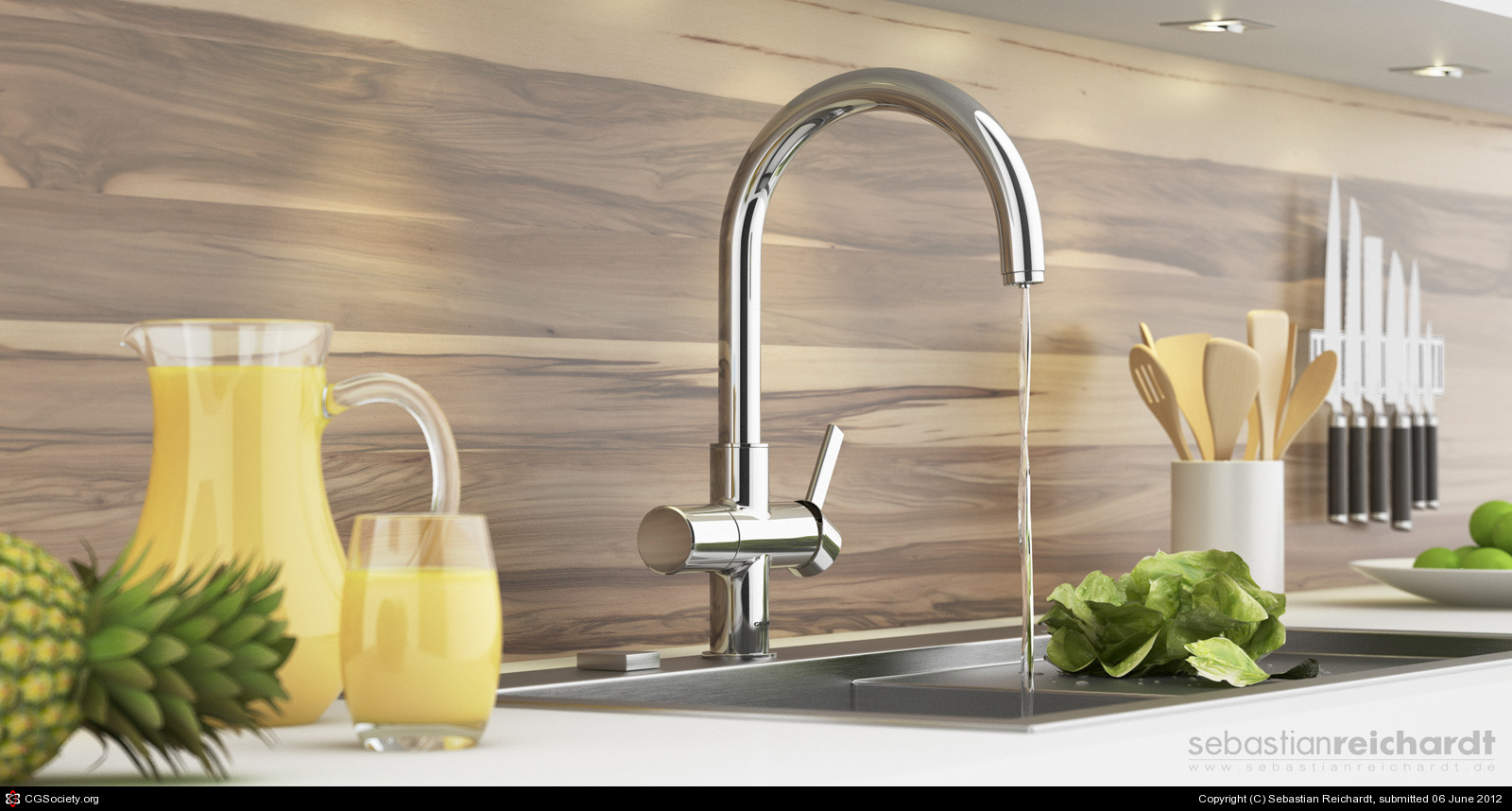 Choose Grohe Faucets For Your Faucet Ideas: Awesome Grohe Faucets In Silver With Sink For Kitchen Decor Ideas